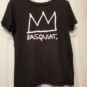 Black Jean-Michel Basquiat Short Sleeve Top